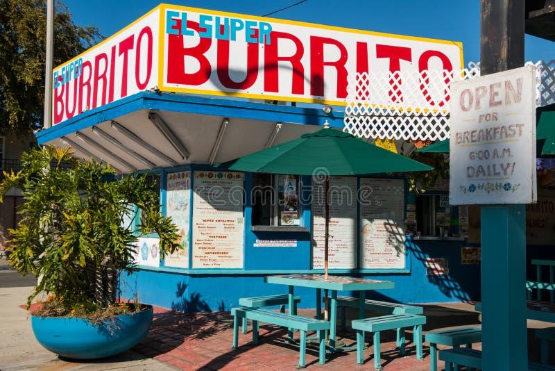 Gr Super Burrito in Pasadena stock foto