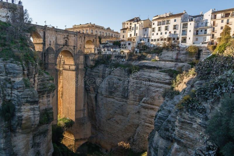 Gr Taag van Ronda, Malaga, Spanje stock afbeelding