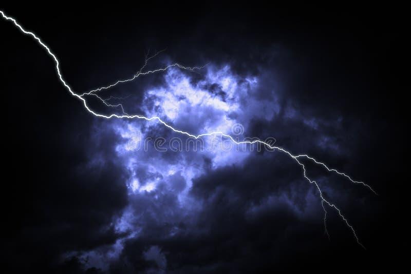 Gr?ve surprise sur le ciel nuageux fonc? images libres de droits