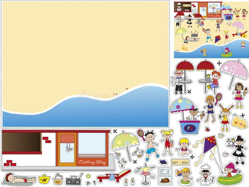 Gra dla dzieci royalty ilustracja