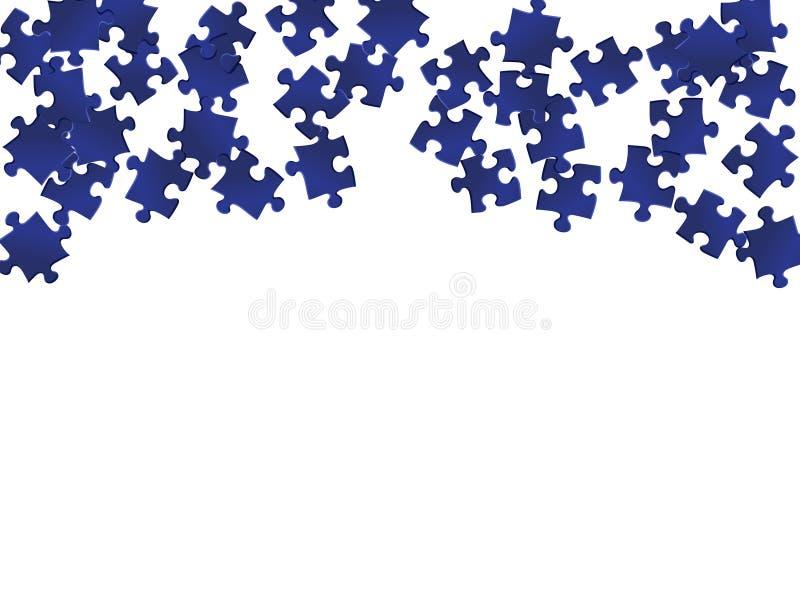 Gra enigma układanka ciemnoniebieskie części wektor royalty ilustracja