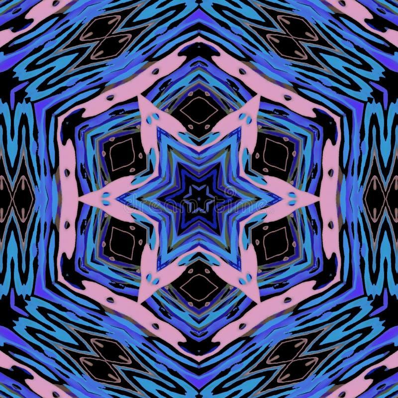 Gra główna rolę abstrakcjonistycznego projekt z menchiami i błękitów kolorami royalty ilustracja