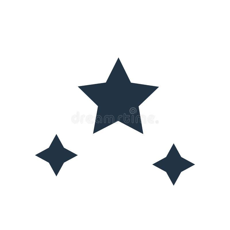 Gra główna rolę ikona wektor odizolowywającego na białym tle, gwiazdy podpisuje ilustracji