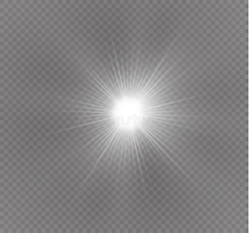 Gra główna rolę na przejrzystym tle, lekki skutek, wektorowa ilustracja wybuch z błyska ilustracji