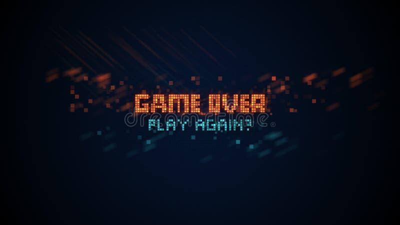 Gra nad zwrotem w piksel sztuce ilustracja wektor