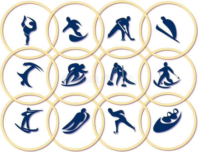 gra olimpijskich symboli ilustracja wektor