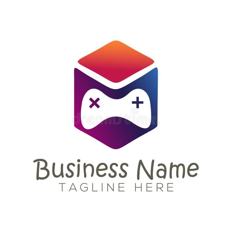 Gra Online logo i ikona projekt royalty ilustracja