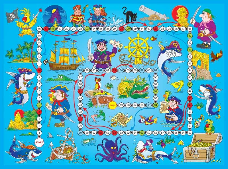 gra planszowa piraci royalty ilustracja