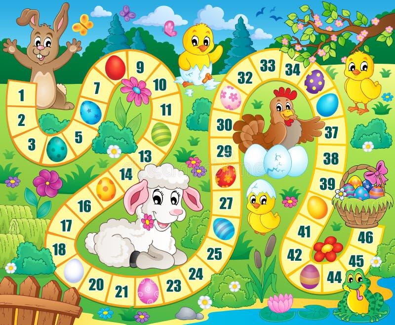 Gra planszowa wizerunek z Wielkanocnym tematem 1 royalty ilustracja