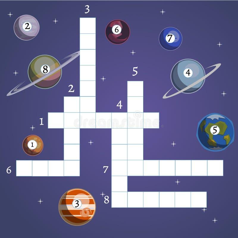 Gra planszowa z planetą i przestrzenią ilustracja wektor