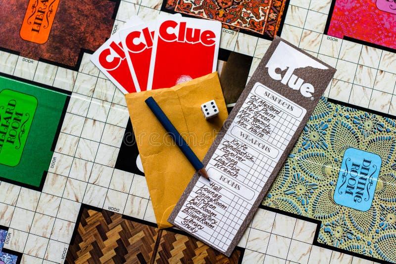 Gra w Clue board 1972 Second Edition obrazy stock