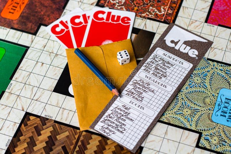 Gra w Clue board 1972 Second Edition obrazy royalty free
