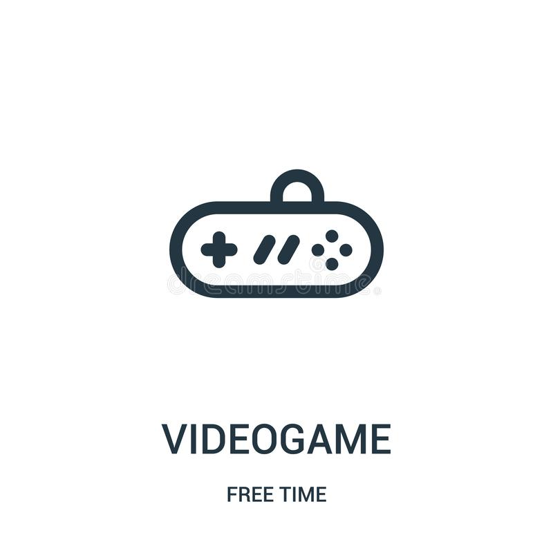 gra wideo ikony wektor od czas wolny kolekcji Cienka kreskowa gra wideo konturu ikony wektoru ilustracja Liniowy symbol dla używa royalty ilustracja