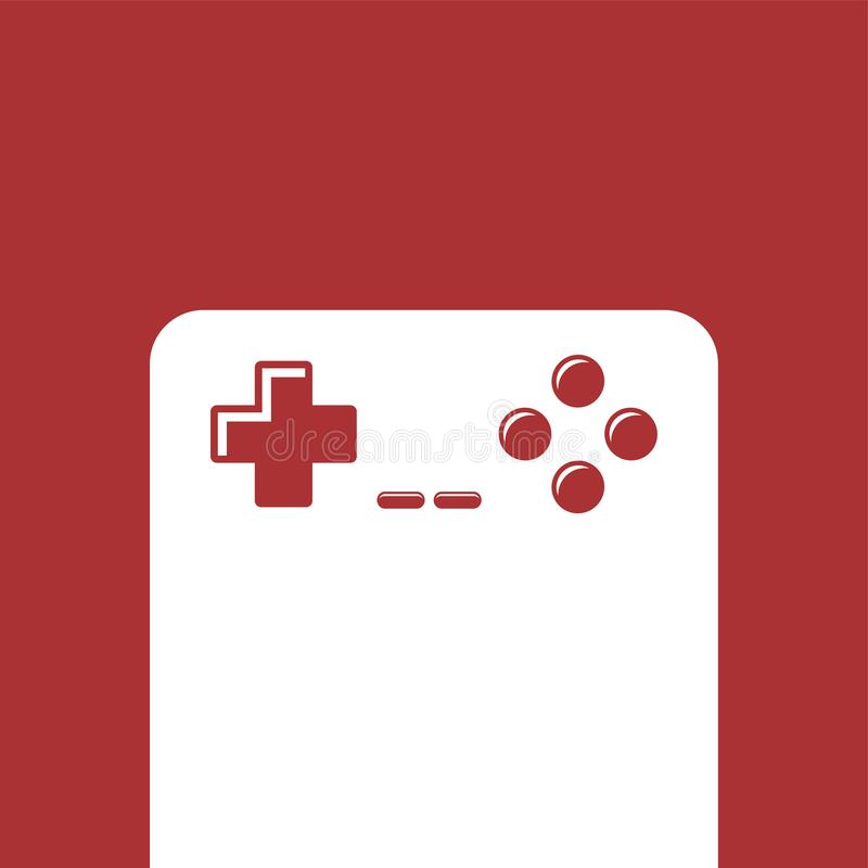 Gra wideo konsoli joysticka ikona royalty ilustracja
