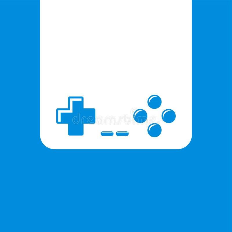 Gra wideo konsoli joysticka ikona ilustracji