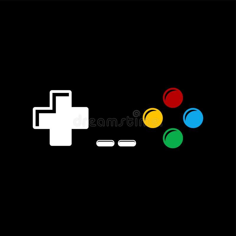 Gra wideo konsoli joysticka ikona ilustracja wektor