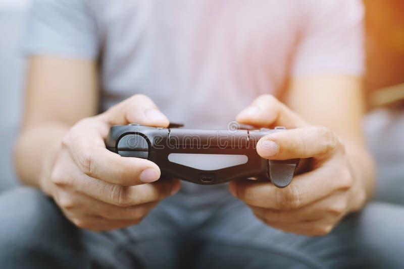 Gra wideo konsoli kontroler w gamer hazardu joysticku zdjęcie stock
