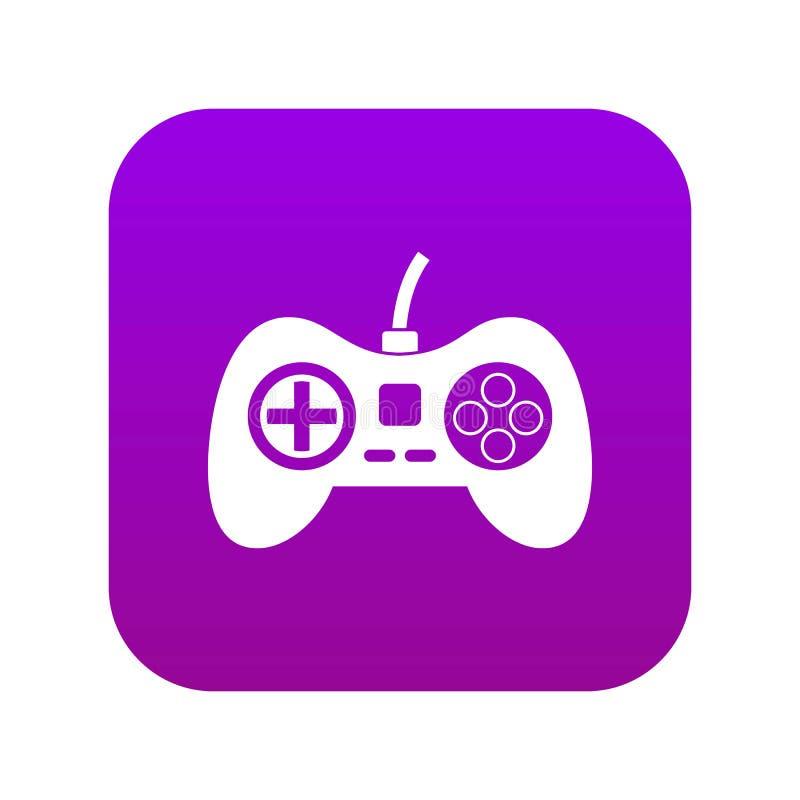 Gra wideo konsoli kontrolera ikony cyfrowe purpury royalty ilustracja