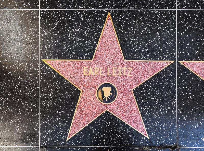 GraafLestz ' ster op Hollywood-Gang van Bekendheid royalty-vrije stock foto