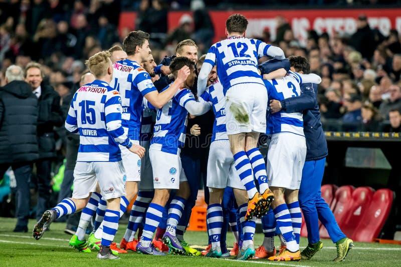 Graafschap Players Celebrate Goal Editorial Photography
