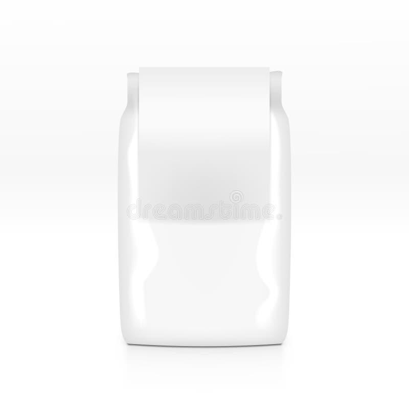 Graangewassen Plastic Zak met Wit Duidelijk Geïsoleerd Etiket stock illustratie
