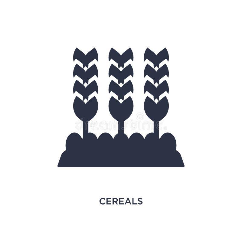 graangewassenpictogram op witte achtergrond Eenvoudige elementenillustratie van landbouwconcept stock illustratie