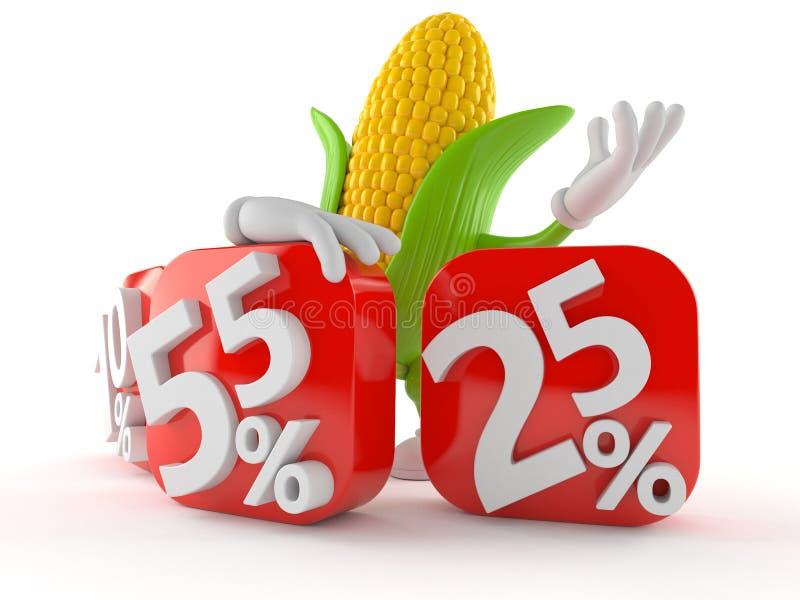Graankarakter achter percentagetekens vector illustratie