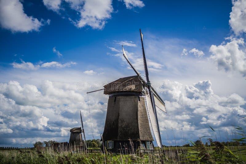 Graanmolens Nederland zdjęcie stock