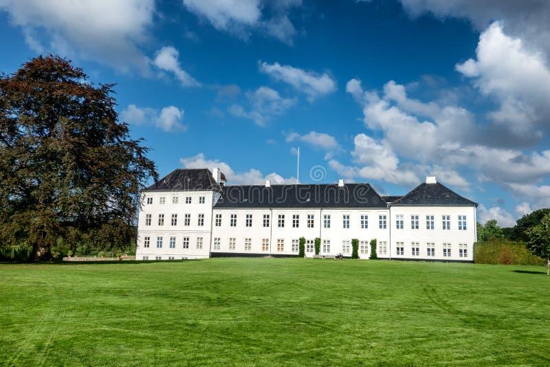 Graasten城堡皇家丹麦家庭的夏天住所,小室 库存图片