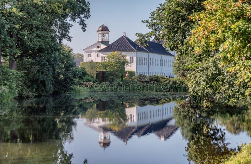 Graasten城堡皇家丹麦家庭的夏天住所,小室 免版税库存照片