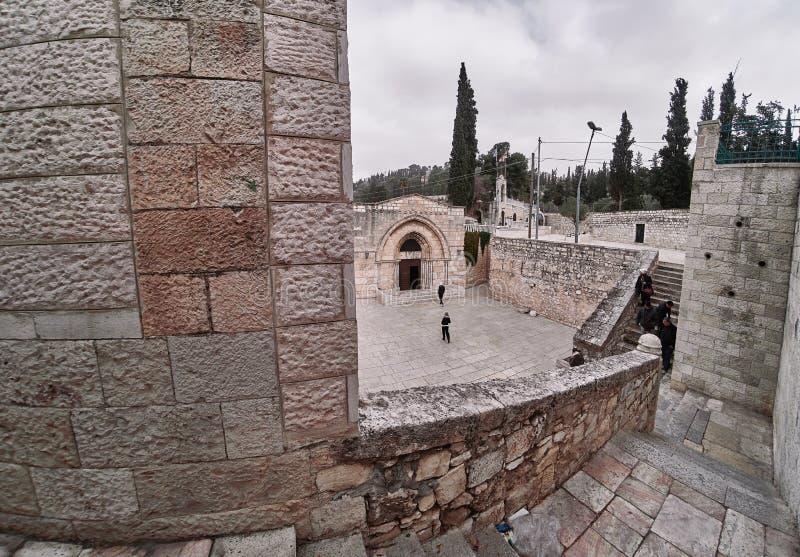 Grab der Jungfrau Maria jerusalem DEC 2019 ISRAEL lizenzfreie stockfotos