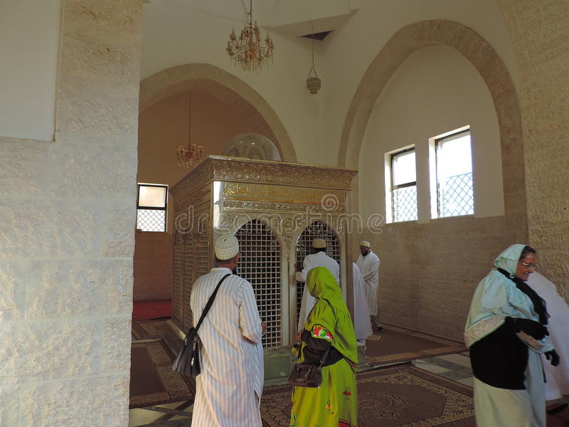 Grab des Zeid-Behälters-Hartha in Jordanien stockfotos