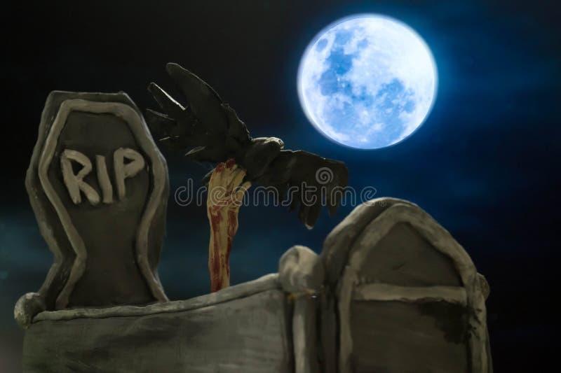 Grab in Halloween stockfotografie