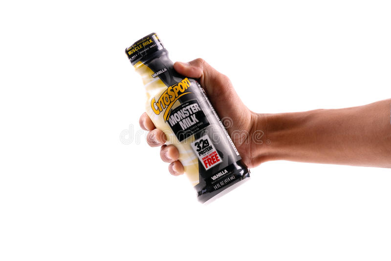 Grab A Monster Milk royalty free stock photo