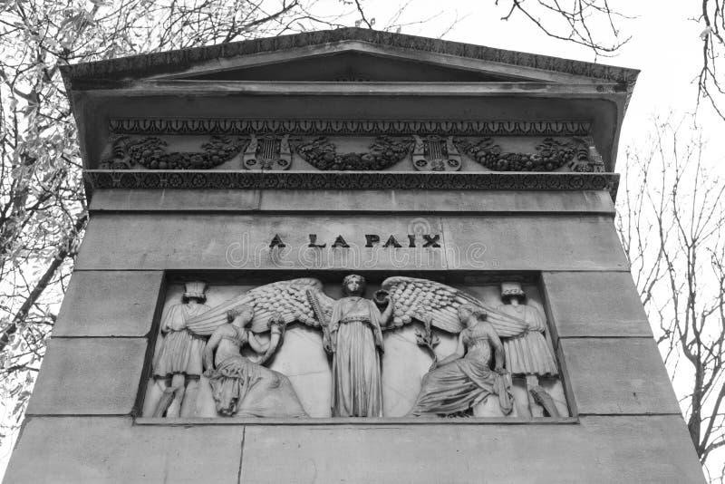 Grab in Paris stockbilder