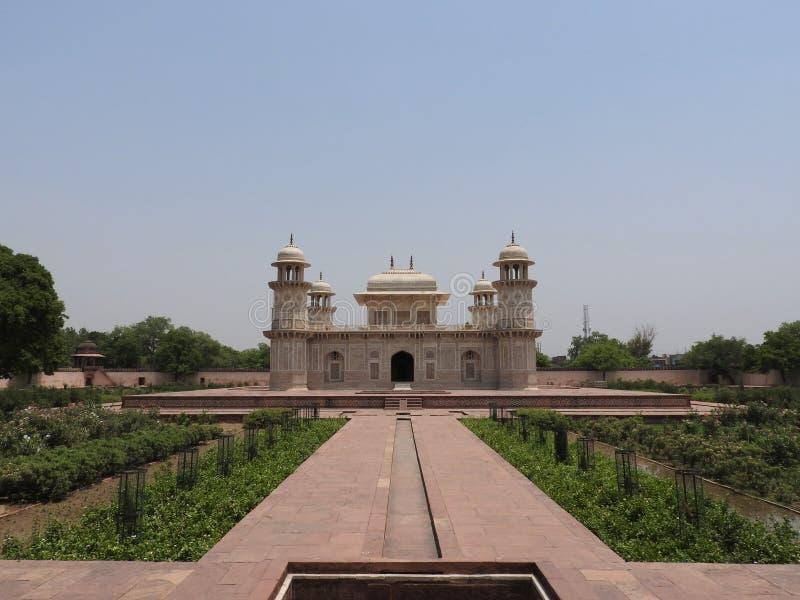 Grab von Itimad-ud-Daul, kleiner Taj Mahal, Agra, Indien stockbild