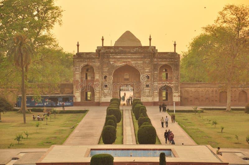 Grab von Jahangir, Lahore stockbilder