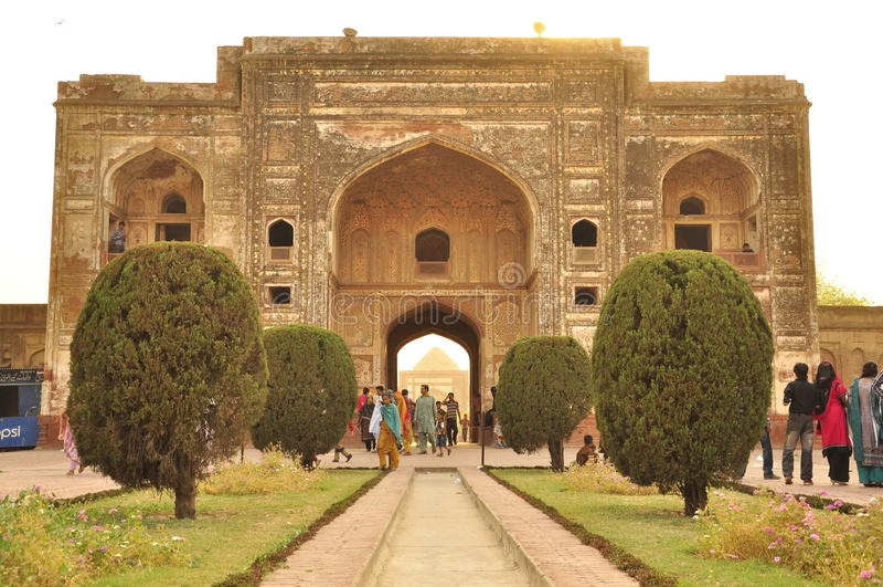 Grab von Jahangir, Mughal-Kaiser, Lahore, Pakistan lizenzfreie stockbilder