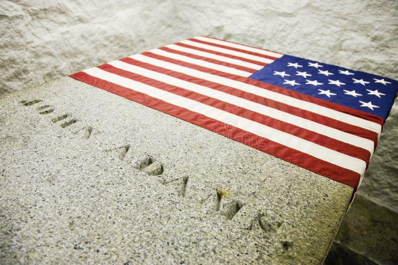 Grab von John Adams lizenzfreies stockbild