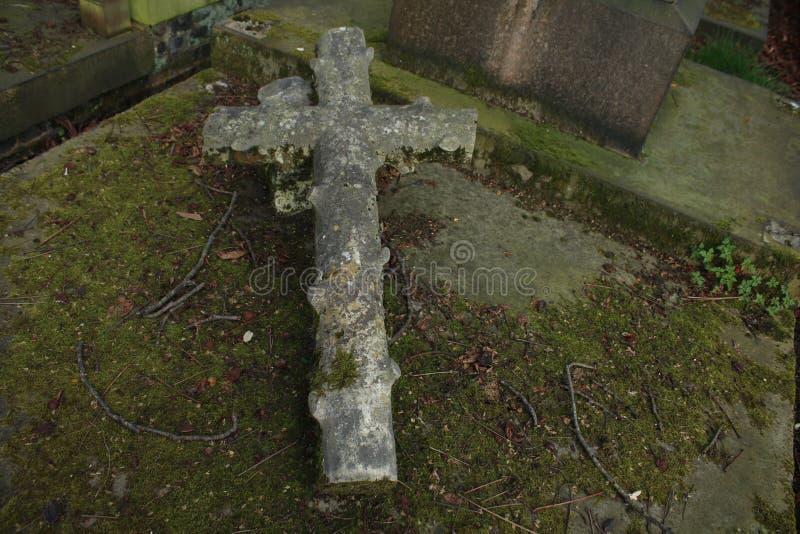 Grab von London mit einem Kreuz oben stockfoto