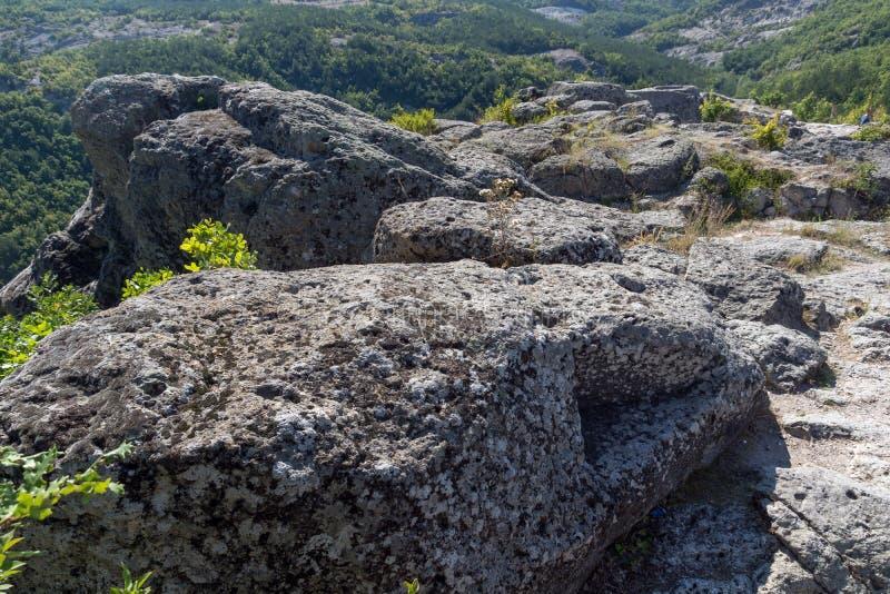 Grab von Orpheus in antikem Thracian-Schongebiet Tatul, Kardzhali-Region lizenzfreie stockfotografie