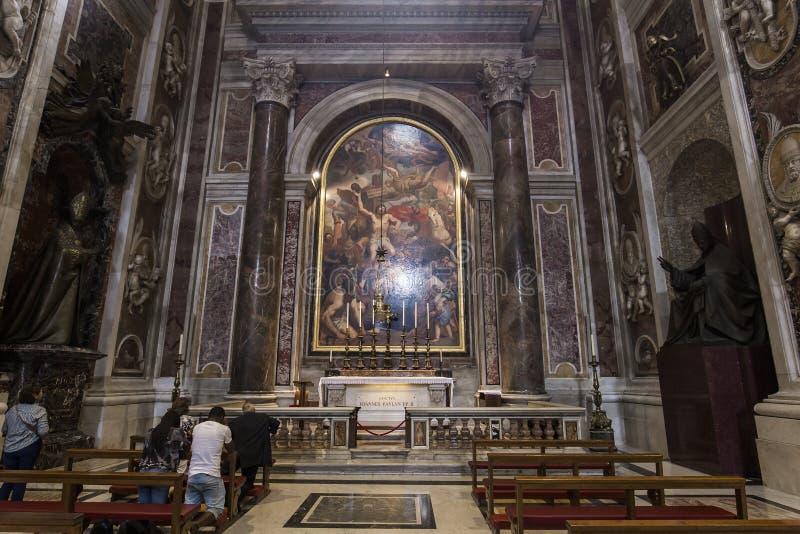 Grab von Papst John Paul 2 in der Basilika des Heiligen Peterr, Vatikanstadt lizenzfreies stockfoto