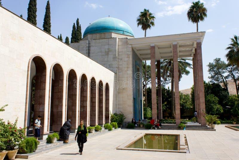 Grab von Saadi in Shiraz, der Iran lizenzfreies stockbild