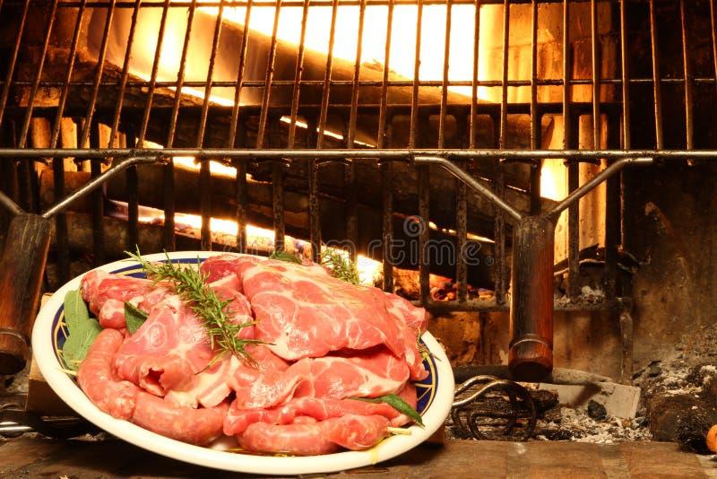 Graba dom z wieprzowiną piec na grillu zdjęcia stock