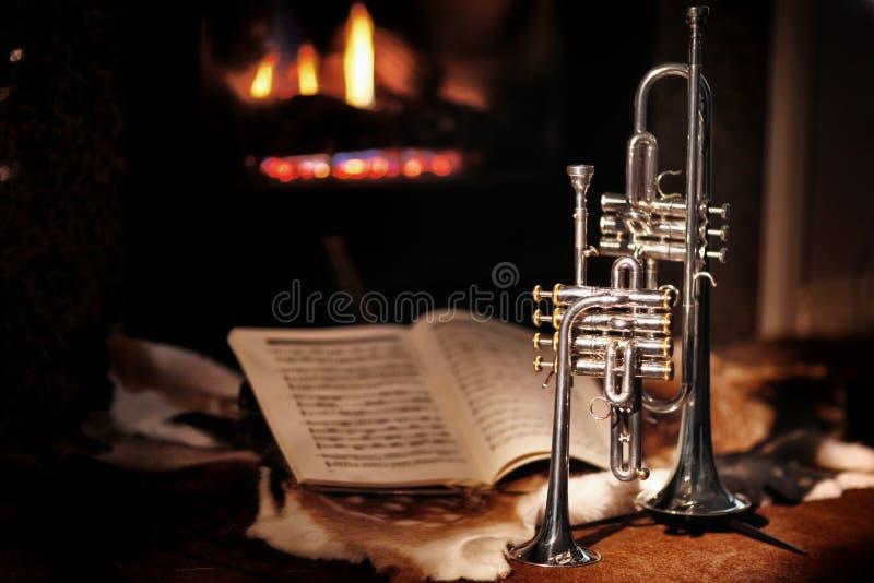 Graba, trąbka, muzyka obraz royalty free
