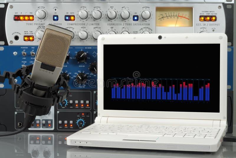 Grabación de sonidos de Digitaces fotografía de archivo libre de regalías