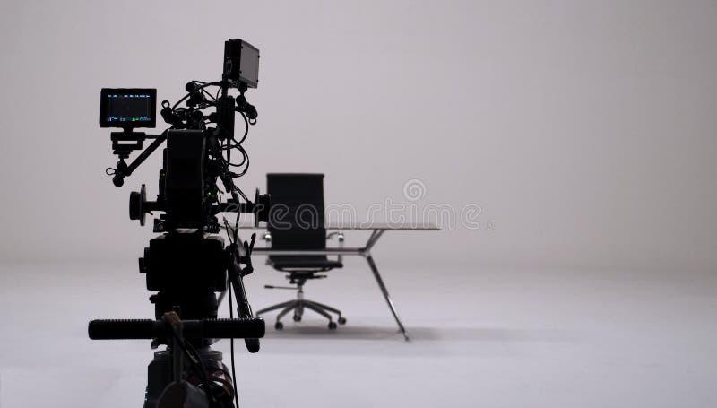 Grabación del anuncio de televisión y sistema de la cámara de película fotografía de archivo