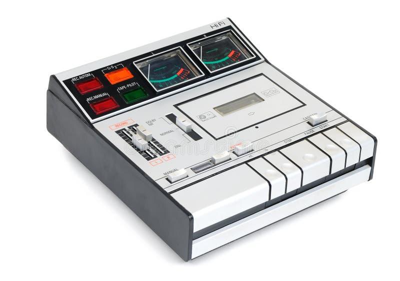 Grabación del cassette de la vendimia imagenes de archivo