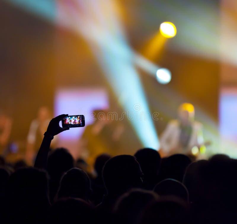 Grabación del concierto fotos de archivo
