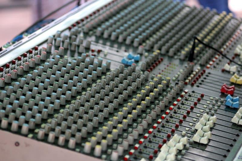 Grabacion musica controles muzyczne kontrola zdjęcia royalty free